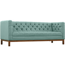 Panache Fabric Sofa , Blue, Fabric