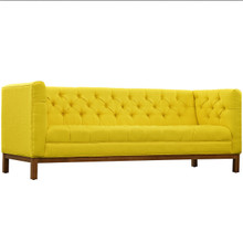 Panache Fabric Sofa , Yellow, Fabric