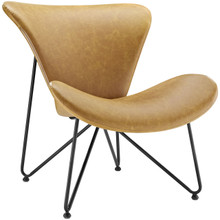 Glide Lounge Chair , Vinyl Leather, Brown