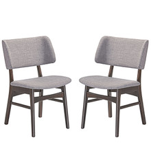 Vestige Dining Side Chair (Set of Two), Grey, Fabric, Wood
