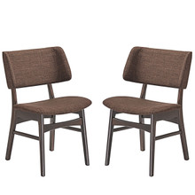 Vestige Dining Side Chair (Set of Two), Brown, Fabric, Wood