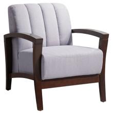 Enamor Fabric Armchair , Grey, Fabric, Wood