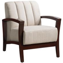 Enamor Fabric Armchair , Blue, Fabric, Wood