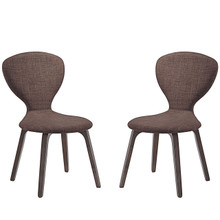 Tempest Dining Side Chair (Set of Two), Brown, Fabric, Wood 2060
