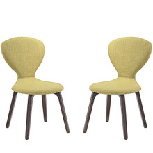 Tempest Dining Side Chair (Set of Two), Green, Fabric, Wood 2060