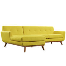 Engage Left-Facing Sectional Sofa, Yellow, Fabric
