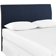 Isabella Queen Size Headboard, Blue, Fabric