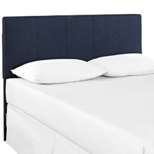 Oliver Twin Size Fabric Headboard, Blue, Fabric