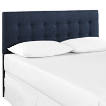 Emily Queen Size Fabric Headboard, Blue, Fabric