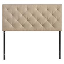 Theodore Twin Size Fabric Headboard, Beige, Fabric