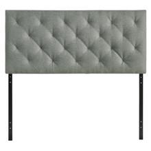 Theodore Twin Size Fabric Headboard, Grey, Fabric