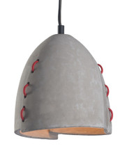 Confidence Ceiling Lamp, Gray, Faux Stone