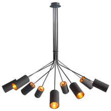Ambition Ceiling Lamp, Black, Fabric