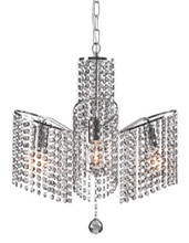 Keith Ceiling Lamp, Chrome, Glass