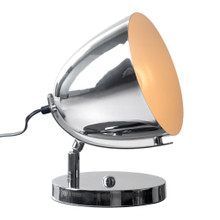 Jog Table Lamp, Chrome, Metal