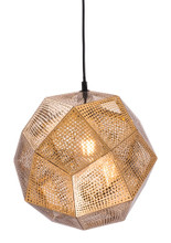 Bald Ceiling Lamp, Gold, Metal