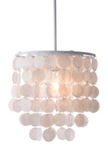 Shell Ceiling Lamp, White, Metal