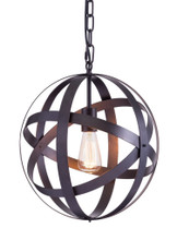 Plymouth Ceiling Lamp, Black, Metal