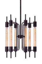 Gisborne Ceiling Lamp, Black, Glass