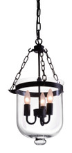 Masterton Ceiling Lamp, Black, Glass