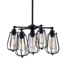 Porirua Ceiling Lamp, Black, Metal