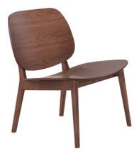 Priest Lounge Chair ( Set of 2 ), Brown, Wood