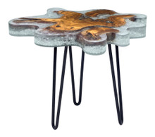 Jigsaw Side Table, Multi, Wood