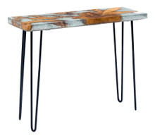 Fissure Console Table, Multi, Wood