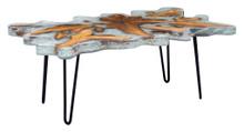 Jigsaw Rectangular Coffee Table, Multi, Wood