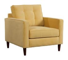 Savannah Arm Chair, Gold, Fabric