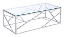 Cage Coffee Table, Clear, Glass