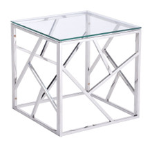 Cage Side Table, Clear, Glass