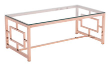 Geranium Coffee Table, Gold, Glass