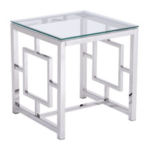 Geranium Side Table, Clear, Glass