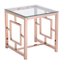 Geranium Side Table, Gold, Glass