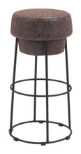 Pop Barstool, Brown, Faux Leather
