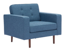 Puget Arm Chair, Blue, Fabric