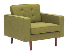 Puget Arm Chair, Green, Fabric