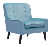 Coney Arm Chair, Blue, Fabric