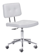 Series Office Chair, White, Faux Leather