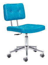 Series Office Chair, Blue, Faux Leather