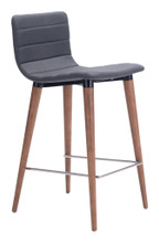 Jericho Counter Chair ( Set of 2 ), Gray, Fabric