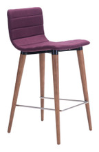 Jericho Counter Chair ( Set of 2 ), Purple, Fabric