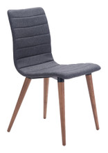 Jericho Dining Chair ( Set of 2 ), Gray, Fabric