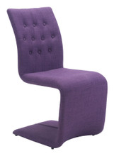 Hyper Dining Chair ( Set of 2 ), Purple, Fabric