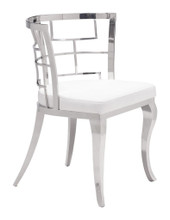 Quince Dining Chair ( Set of 2 ), White, Faux Leather