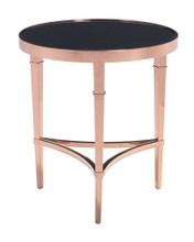 Elite Side Table, Gold, Glass