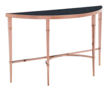Elite Console Table, Gold, Glass