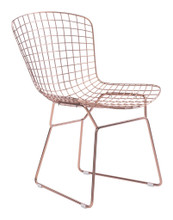 Wire Dining Chair ( Set of 2 ), Gold, Metal