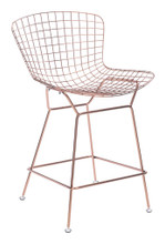 Wire Counter Chair ( Set of 2 ), Gold, Metal
